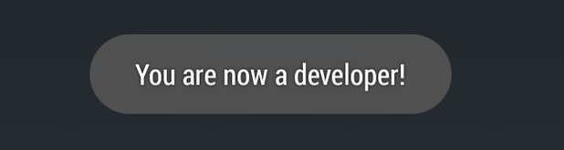 When Developers Option are Opened you will see this message