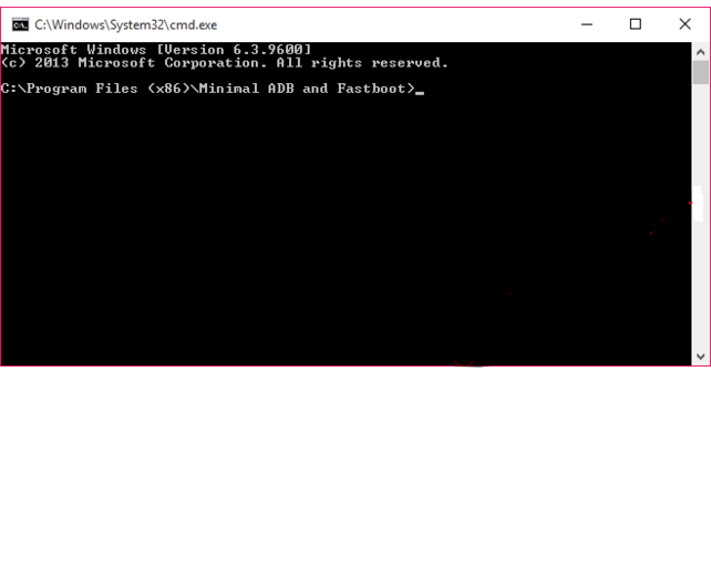 ADB Command window