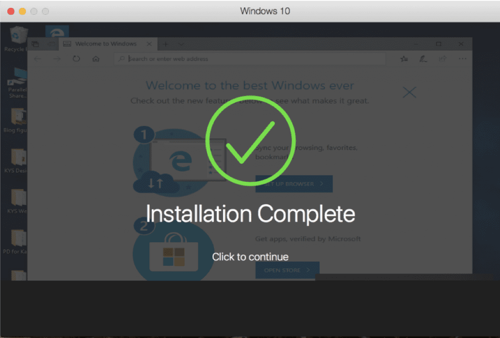 Windows 10 Installed