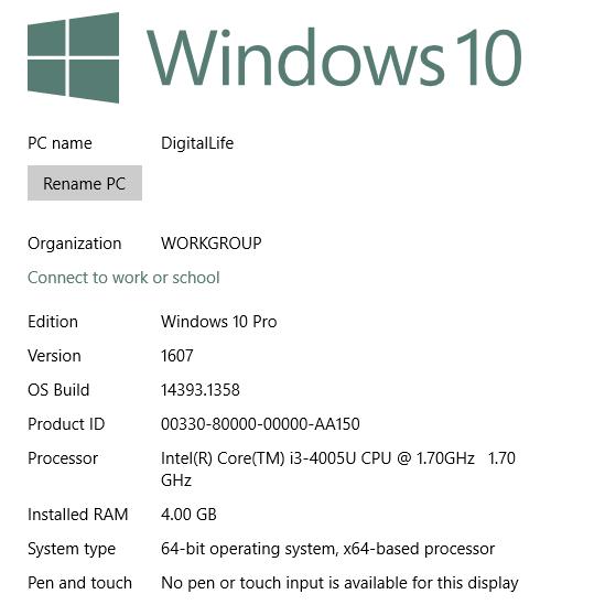 Windows OS Version Build Number Details