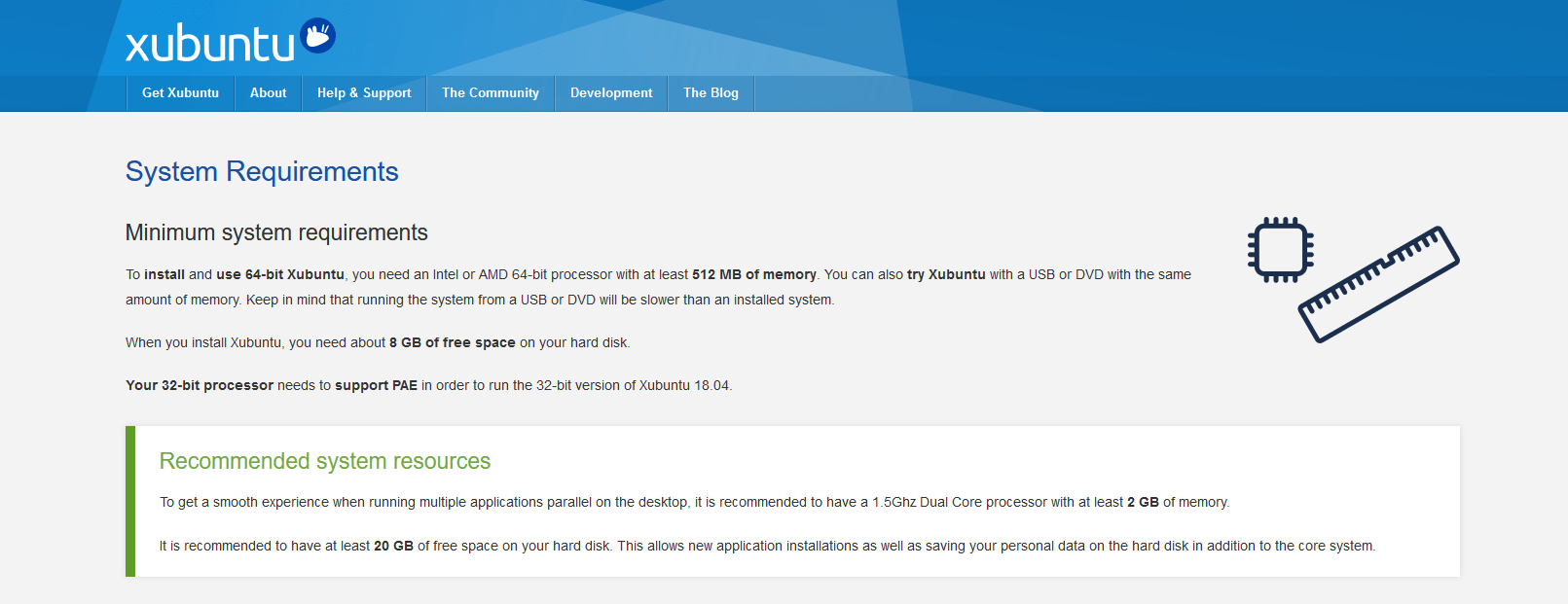 Xubuntu System Requirements