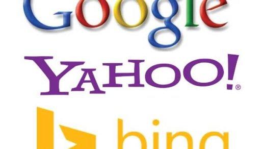 Yahoo Google and Bing Logo