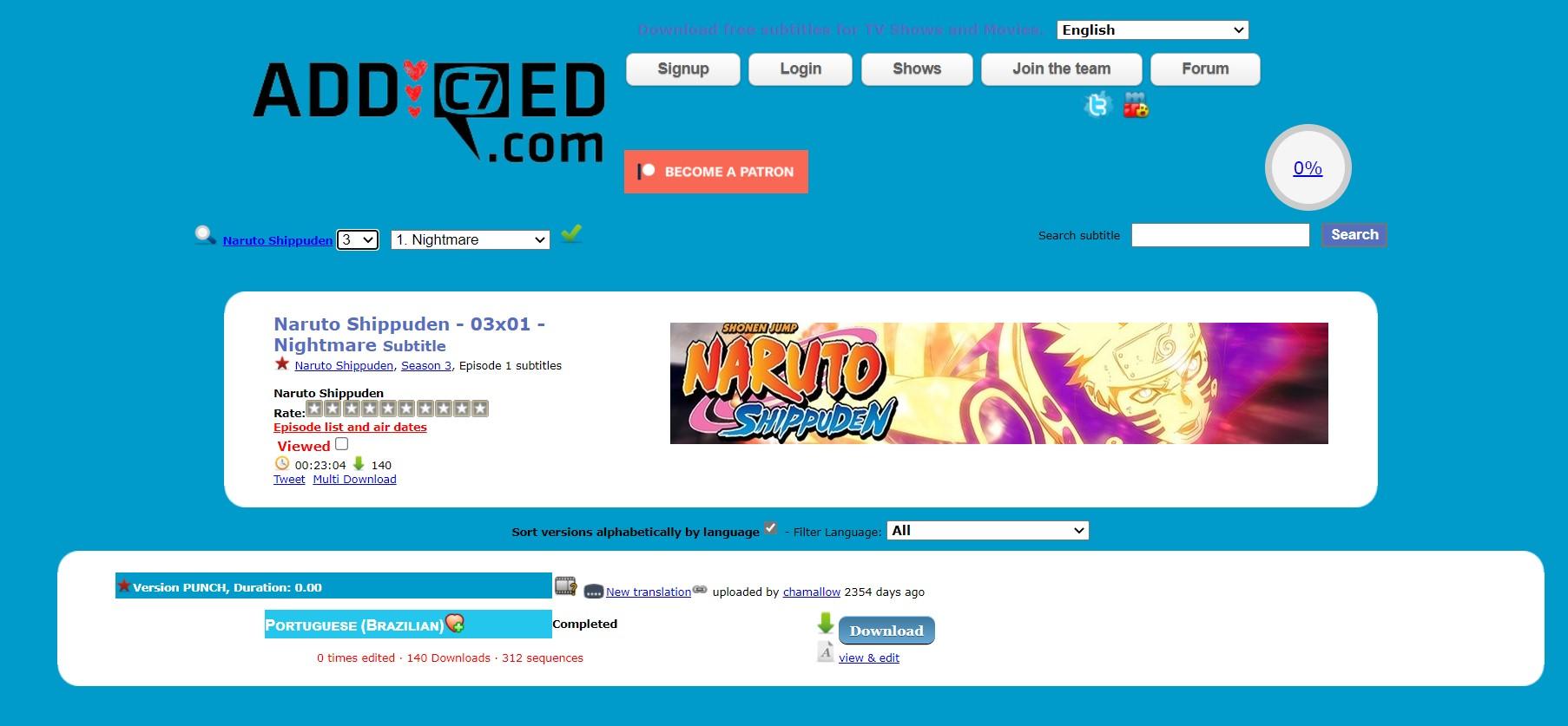 addic7ed Anime Subtitle Download Sites