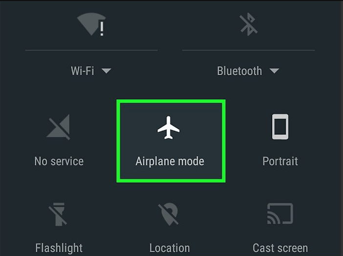 airplane mode in notification drawer