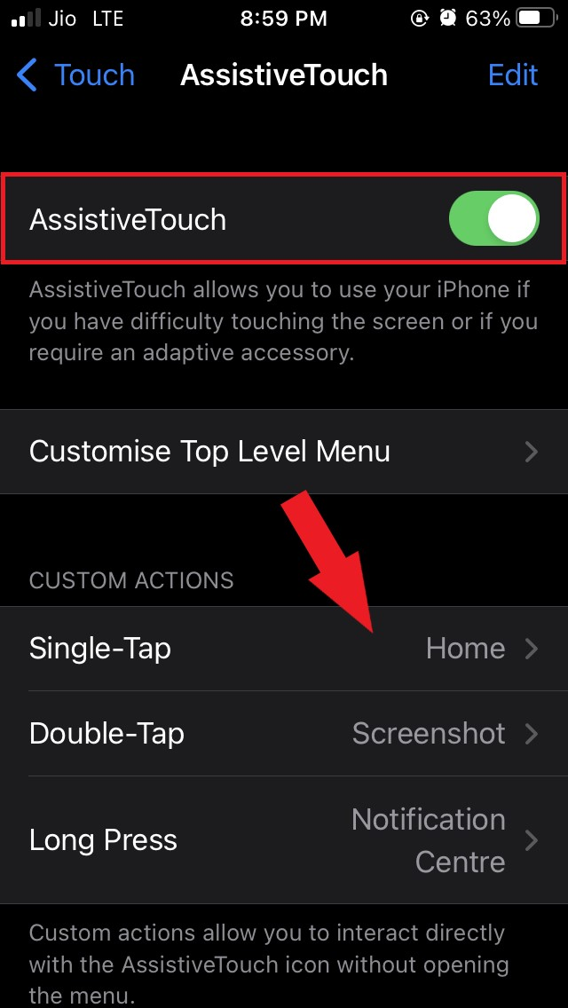 assistive touch enabled
