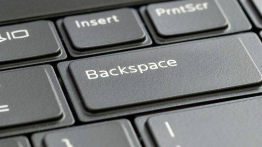 backspace back page