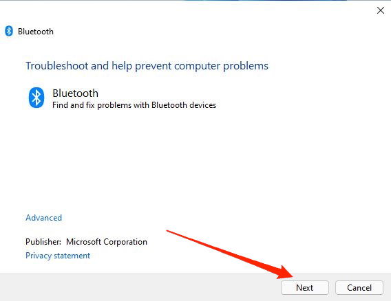 bluetooth troubleshooter 2