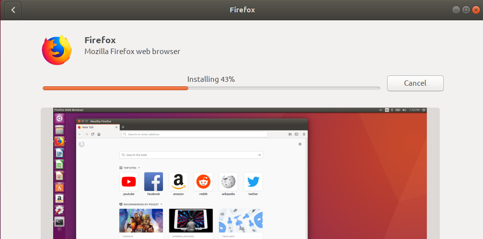 browser will be installed.