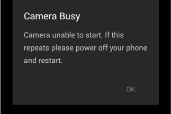 camera busy error moto