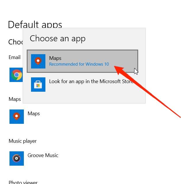 choose default app for maps in windows 11