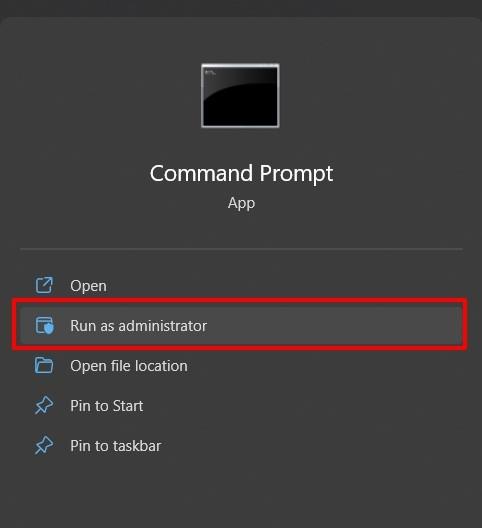 command prompt admin windows 11