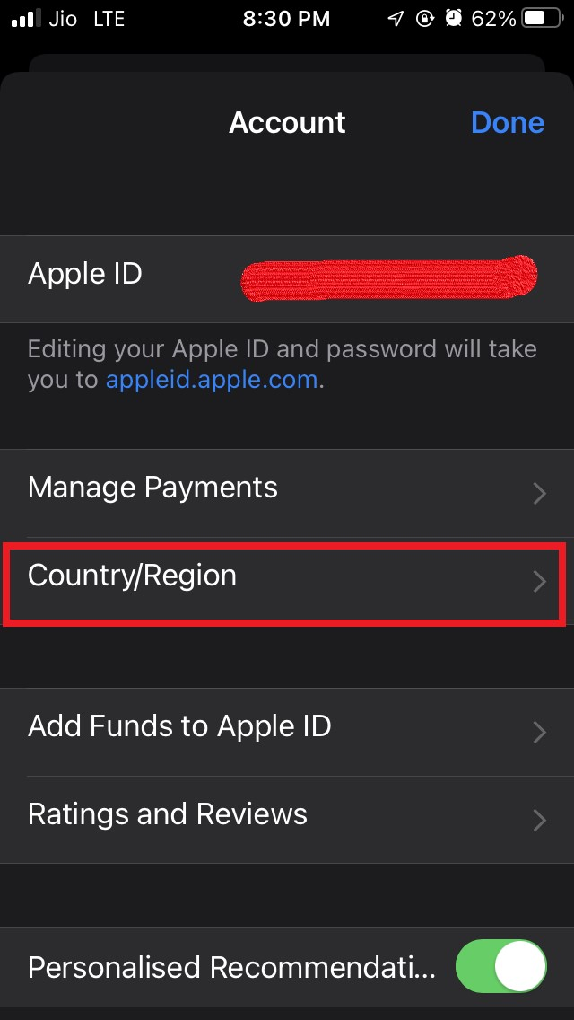 country or region