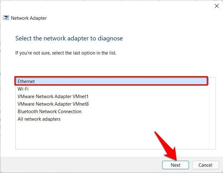 diagnose ethernet windows 11