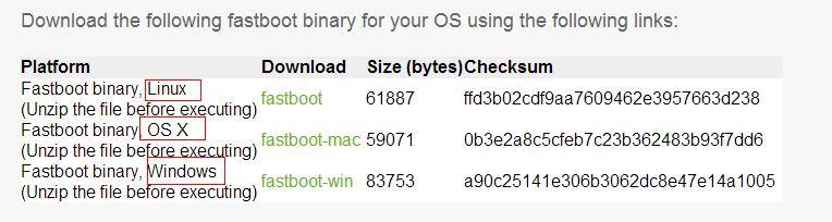 download fastboot