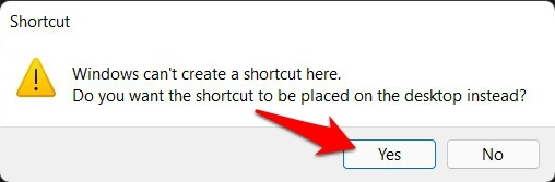 god mode shortcut warning