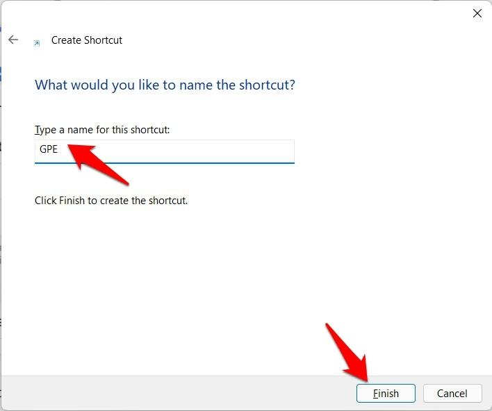 gpedit shortcut windows 11