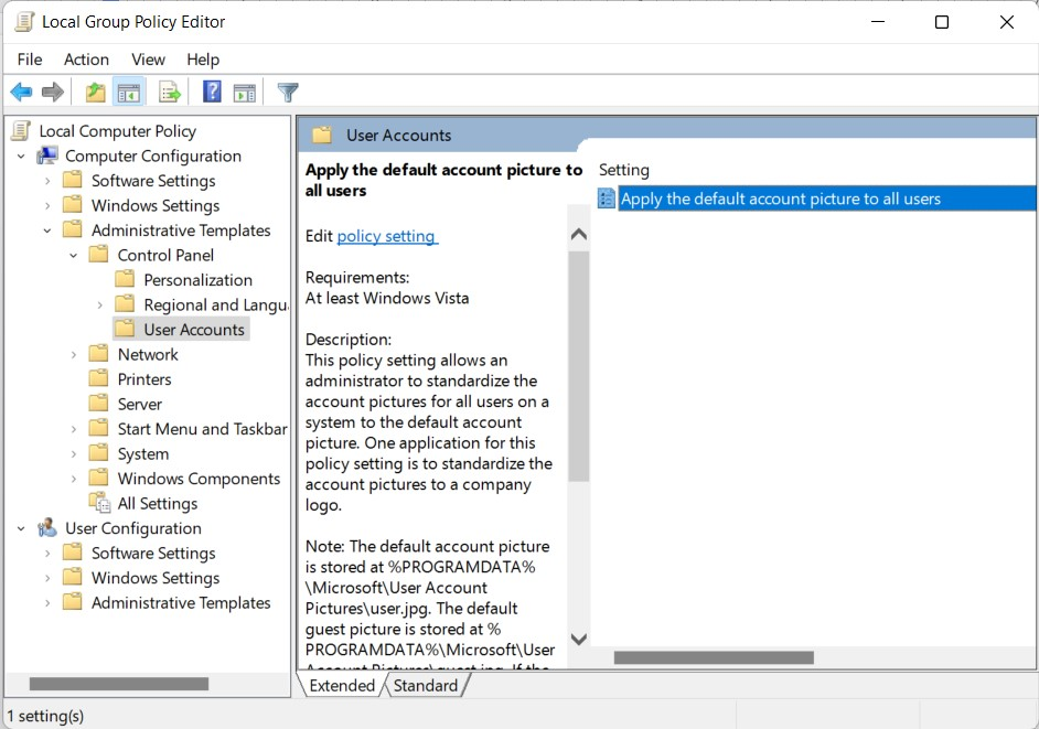 group policy editor in windows 11