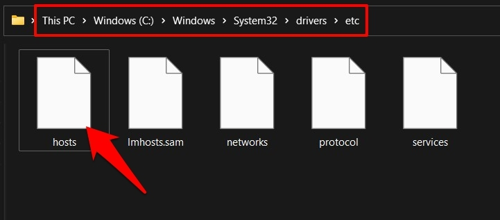 hosts file location in windows 11