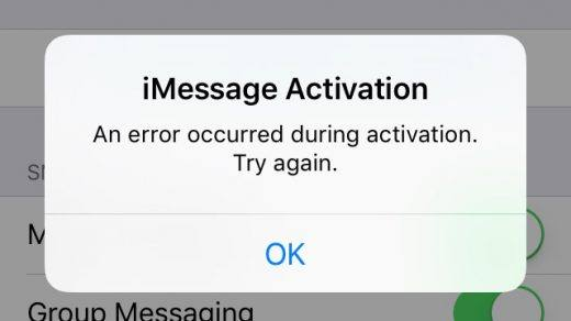 iMessage FaceTime Activation error iOS