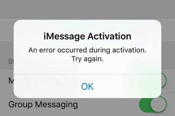 iMessage FaceTime Activation error iOS