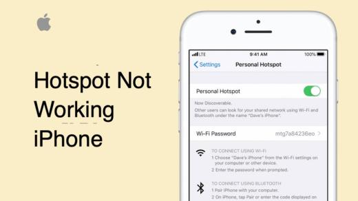 iPhone Hotspot Not Working
