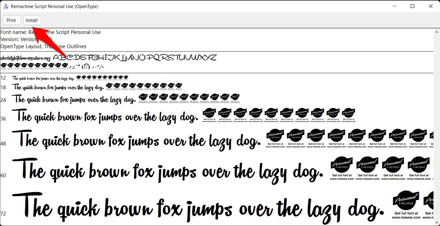 install custom fonts in windows 11 via fonts preview