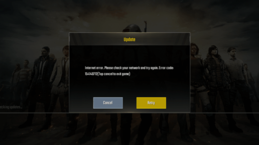 Internet Error PUBG MOBILE