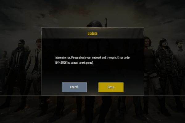 Internet Error PUBG MOBILE