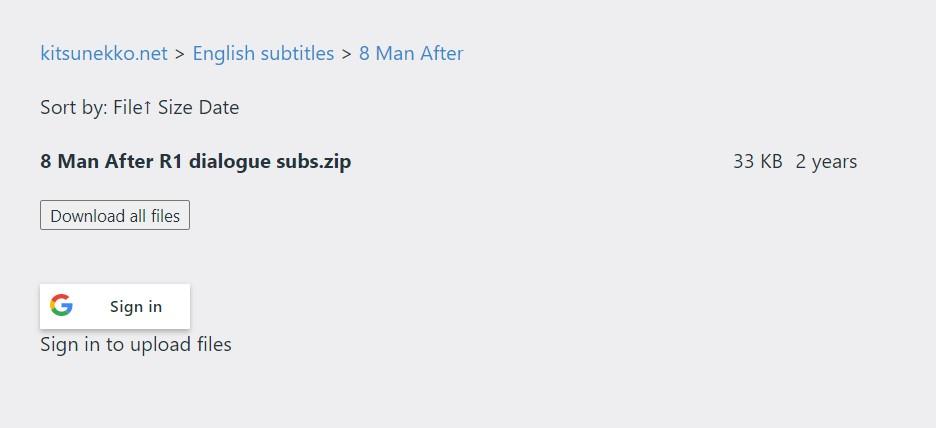 kitsunekko Anime Subtitle Download Sites
