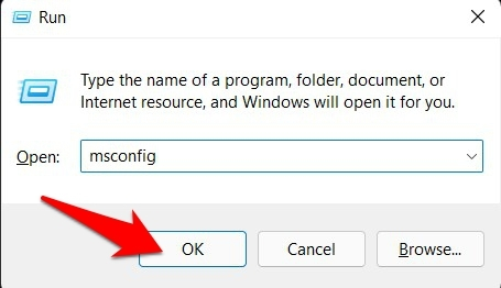launch system configuration in windows 11