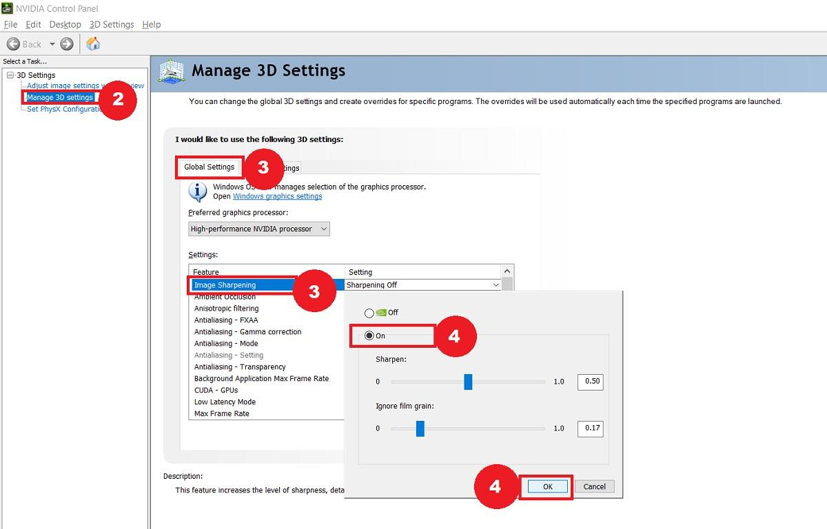 manage 3D setting
