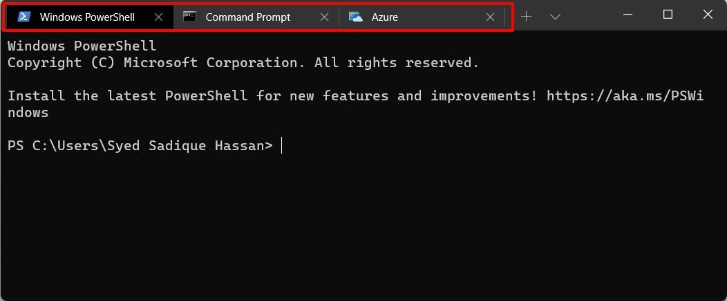 multiple tabs windows terminal