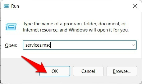 open services menu windows 11