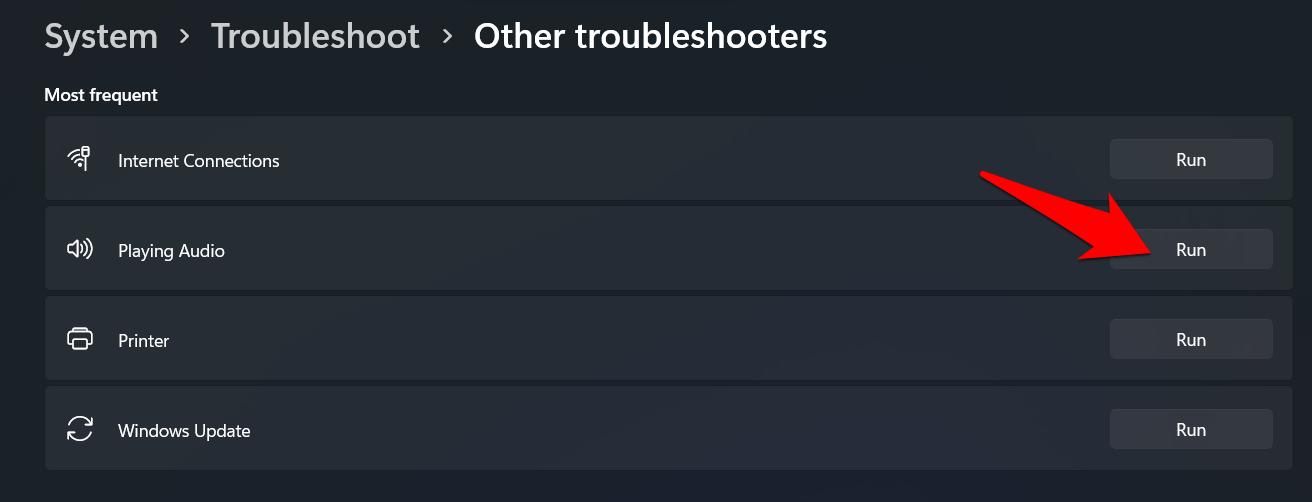 playing audio troubleshoot windows 11