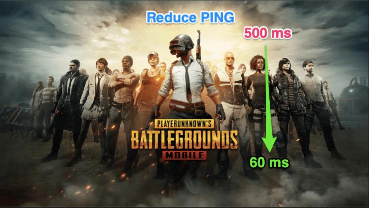 reduce ping pubg mobile