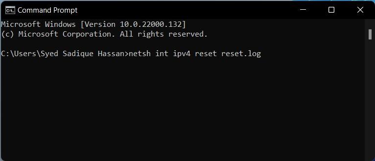 reset ipv4 windows 11