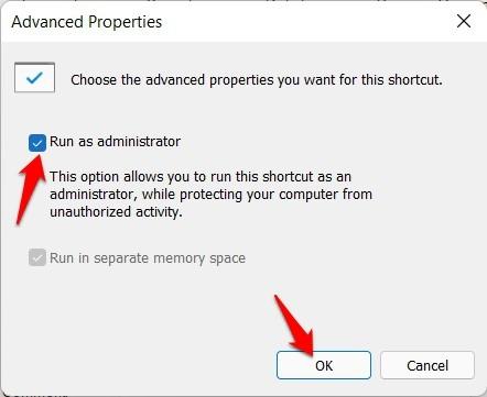 run powershell shortcut as admin