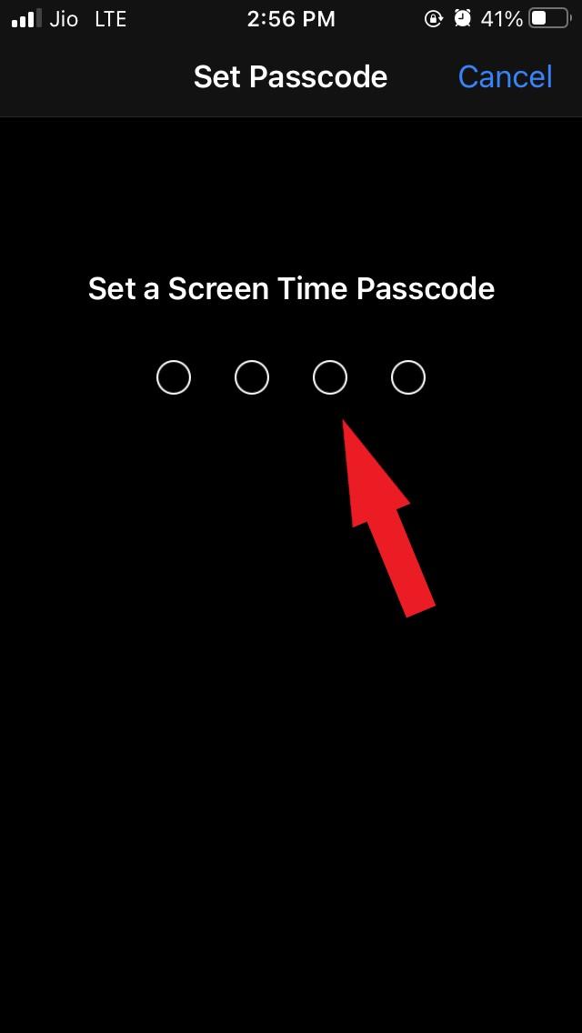 screen time password