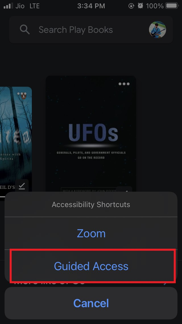 select guided access