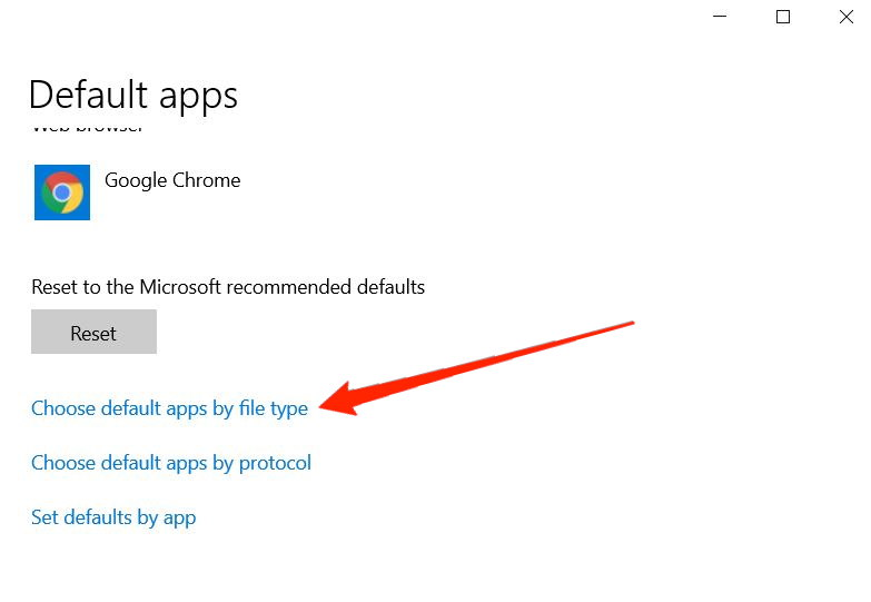 set default apps by file type in windows 11
