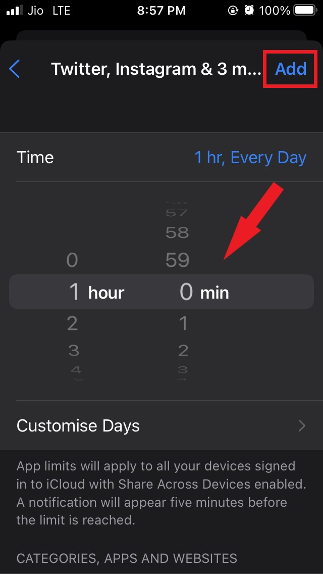 set-the time limit for the apps