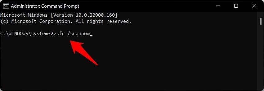 sfc scan now command windows 11