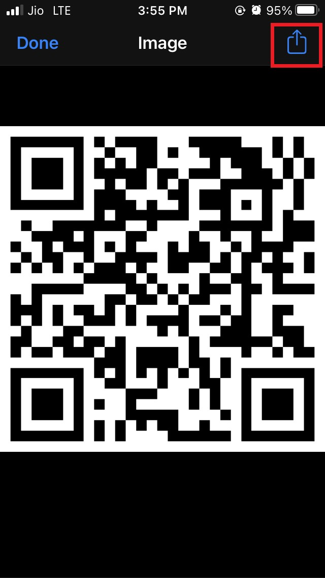 share the QR code for WiFi password