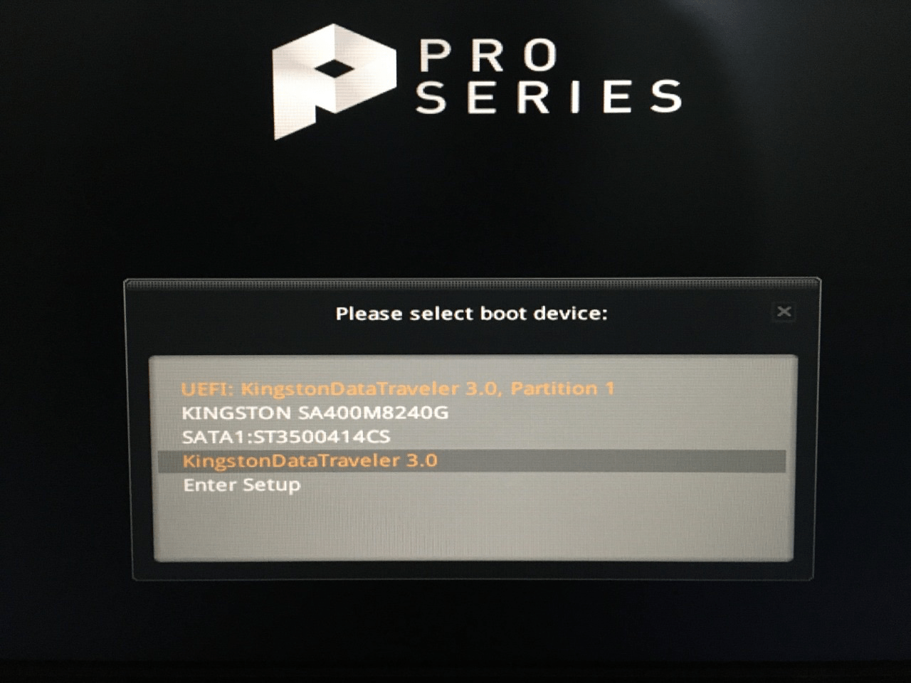 start pressing the boot menu key, and it will reveal the number of bootable drives