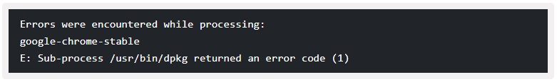 sub-process :usr:bin:dpkg returned an error code (1)