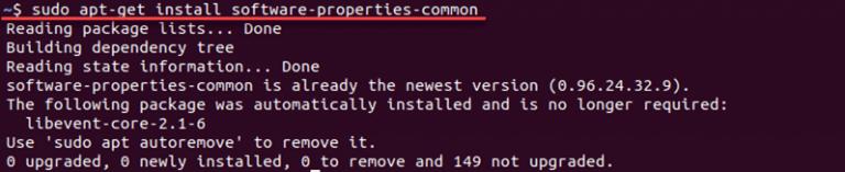 $ sudo apt-get install software-properties-common