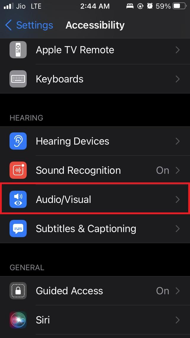 tap on audio visual