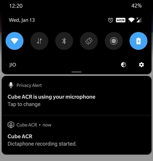 track your recording on ACR Cube