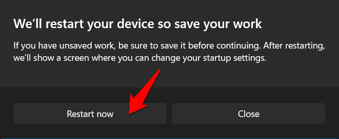 windows 11 reboot to recovery mode