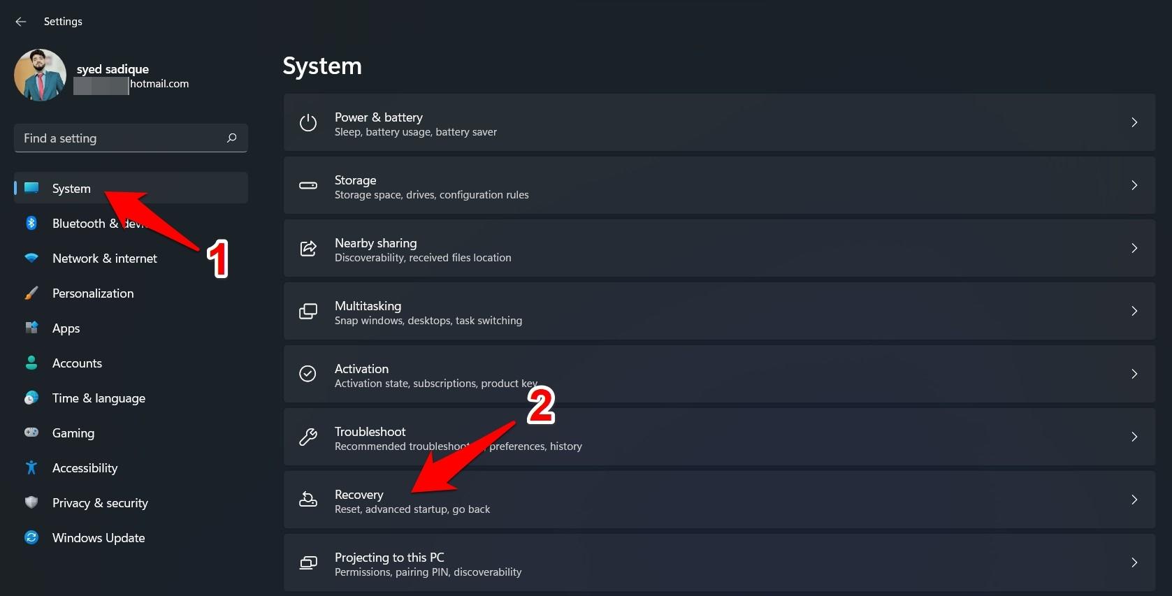 windows 11 system menu